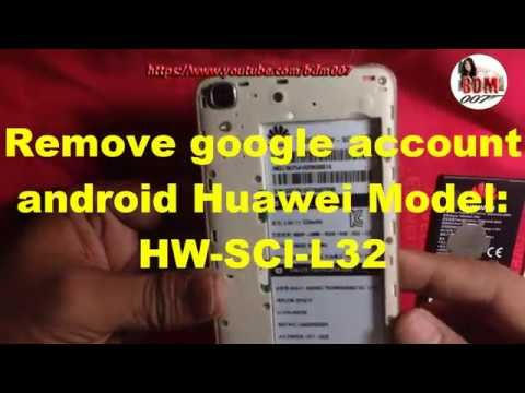 Remove google account android huawei -WH-SCL-L32 Reset Gmail Account
