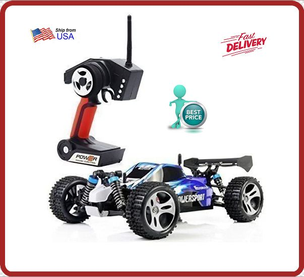 Wltoys A959 1/18 1:18 Scale 2.4G 4WD RTR Off-Road Buggy RC Car - Blue FAST SHIP #Unbranded