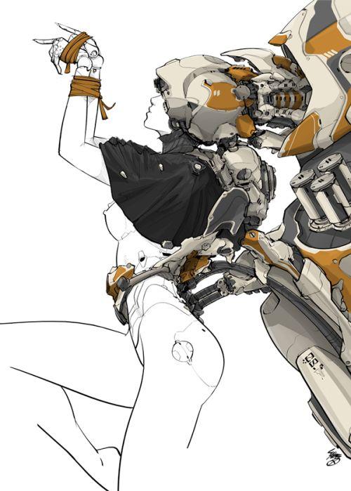 rhubarbes:MEDUSA by …@池月(*^__^*)采集到机械娘(223图)_花瓣游戏                                                                                                                                                                                 もっと見る