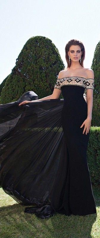 vestido sereia com calda ombro a ombro bordado