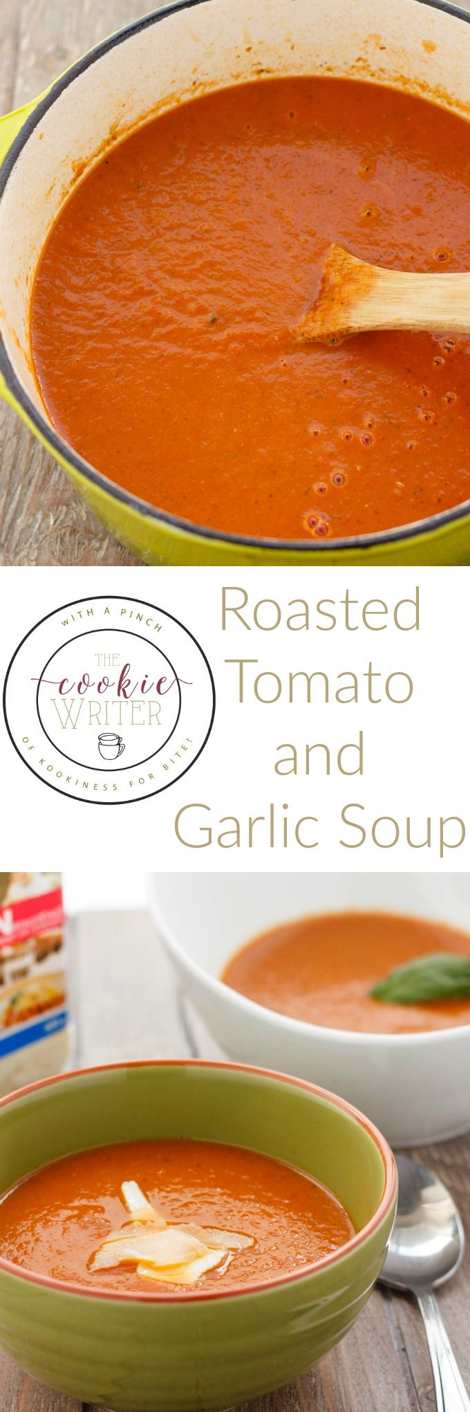 Roasted Tomato and Garlic Soup. Perfectly healthy, vegan, and gluten-free!