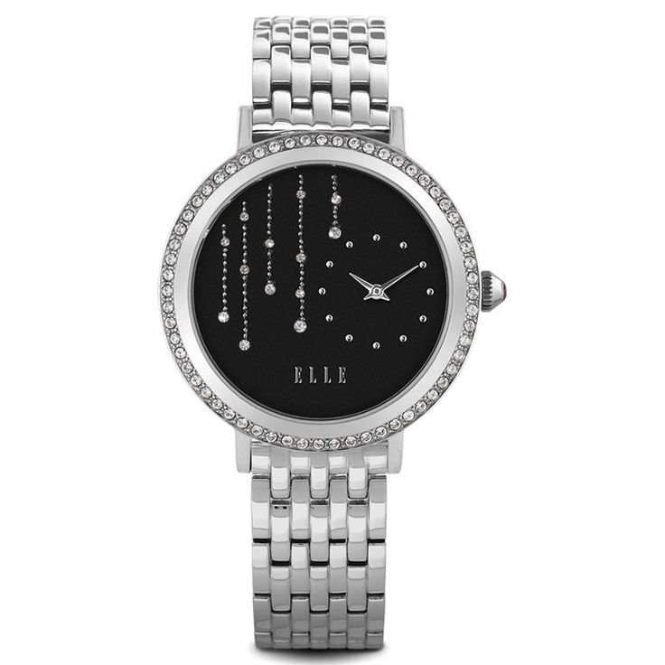 Sparkling Drops Watch with Steel Band – ELLE Time & Jewelry