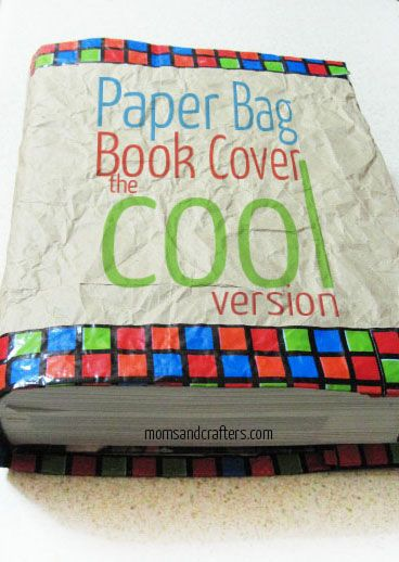 Paper Bag Book Cover - the cool version! Make this eco-friendly book cover that your kids will actually be proud to use!!