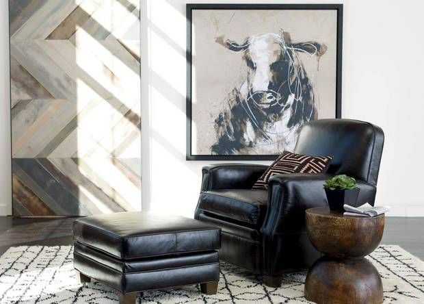 Dean Leather Chair, Anson Black - As a new addition to the Quick Ship Program, the Dean Chair is only available in the Anson Black leather.