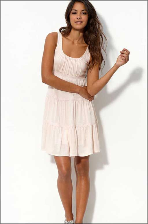 White Strapless Summer Dresses for Juniors