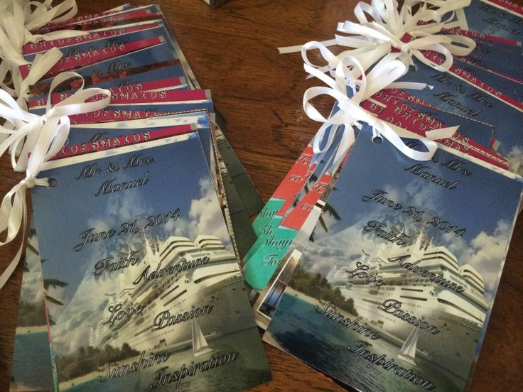 Wedding Favors! Each guest will receive a booklet full of love!