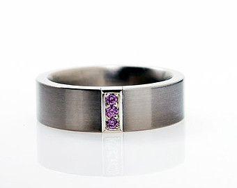 Anillo de anillo de bodas de los hombres anillo de por Gilleri