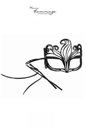 Masque en Cuir et Cristaux Swarovski Faire Hommage Shine