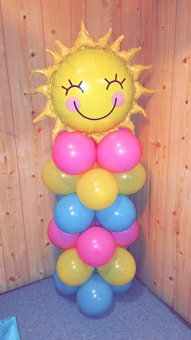 My Sunshine ballon columns were a cute addition to our little sunshine party.