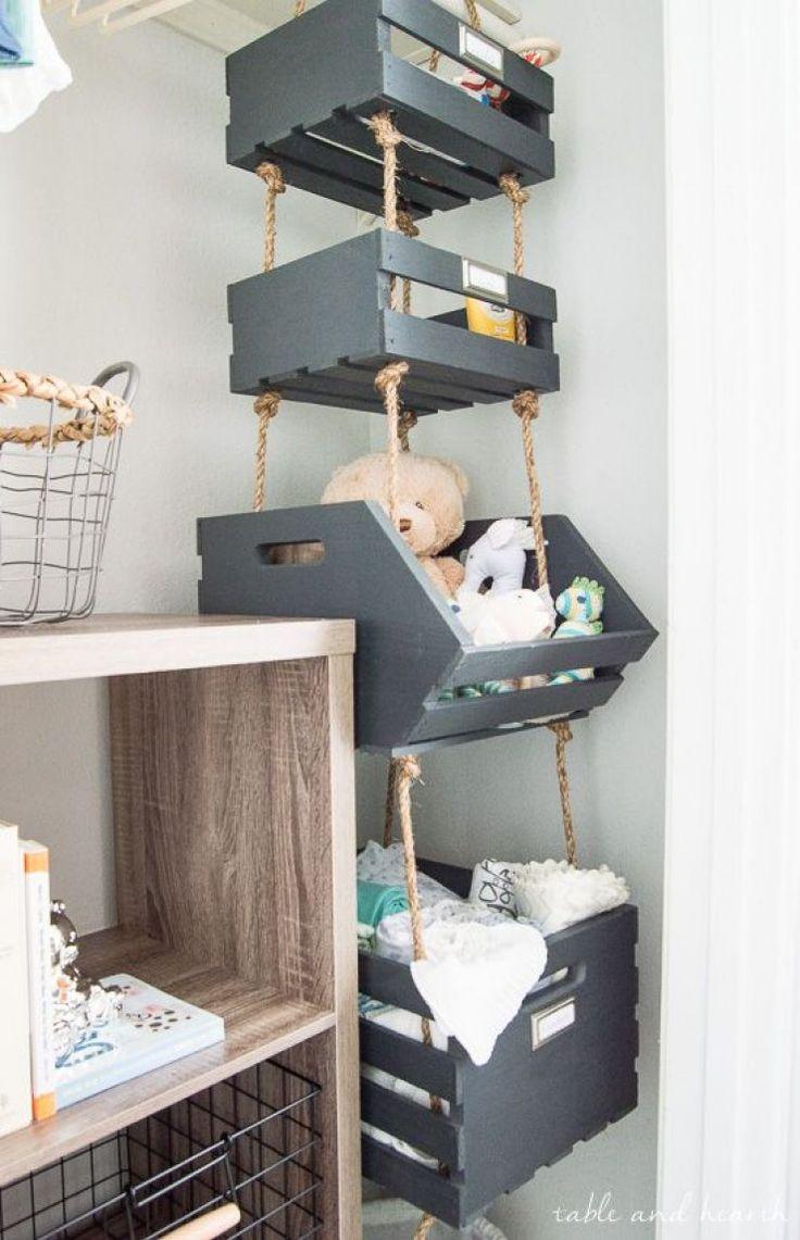 Hang je spullen op in leuke kratten en kisten. Ziet er leuk uit toch? http://amzn.to/2s1ocaE