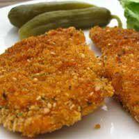 Breaded Baked Boneless Chicken Breasts Recipe - Not Fried Schnitzel - Healthy Chicken Nuggets - Kosher Baked Chicken Recipes