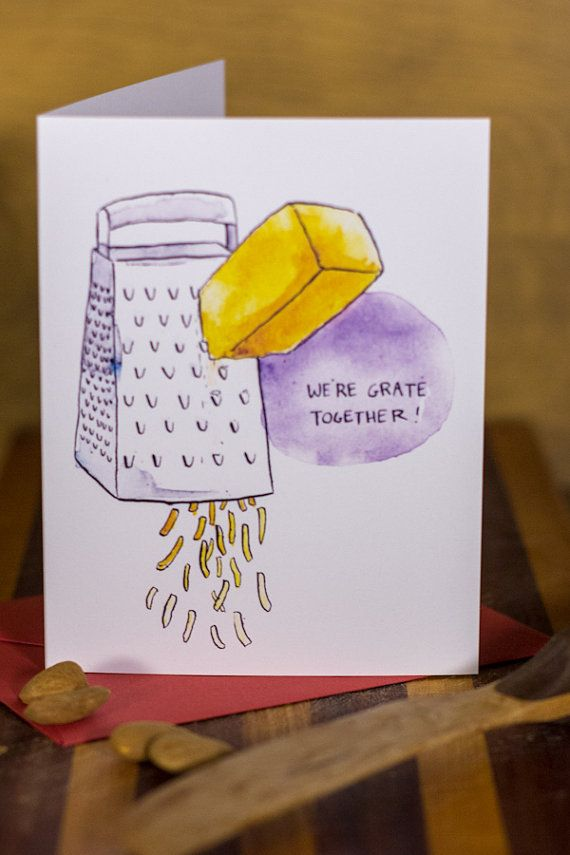 we u0026 39 re grate together cheese grater card by