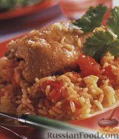Фото к рецепту: Рис с курятиной