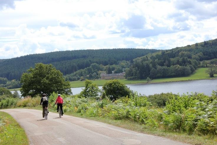 Les petites routes du Morvan, très peu fréquentées des automobilistes, sont le paradis des amoureux du cyclo