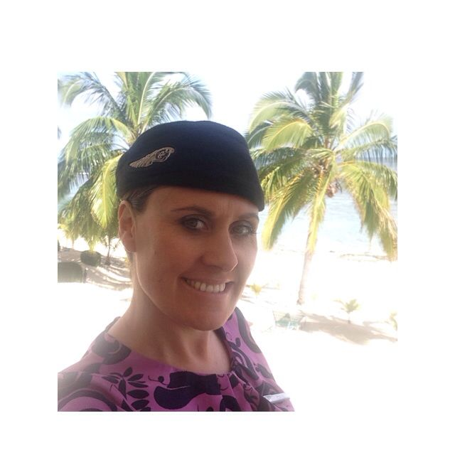 Air New Zealand Cabin Crew; Rarotonga - getting ready for work