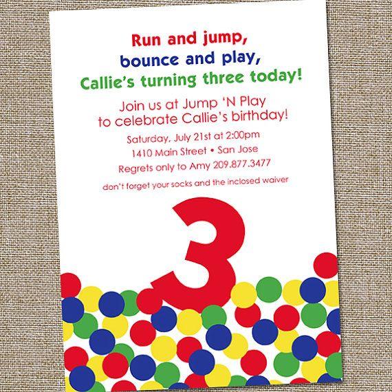 Bouncy Ball Bounce House Printable Birthday Party by partymonkey. , via Etsy.