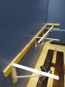DIY Floating Desk. Easy to build desk. http://darlingstreet.com.au/2013/07/28/wellness-library-we-built-a-floating-desk/