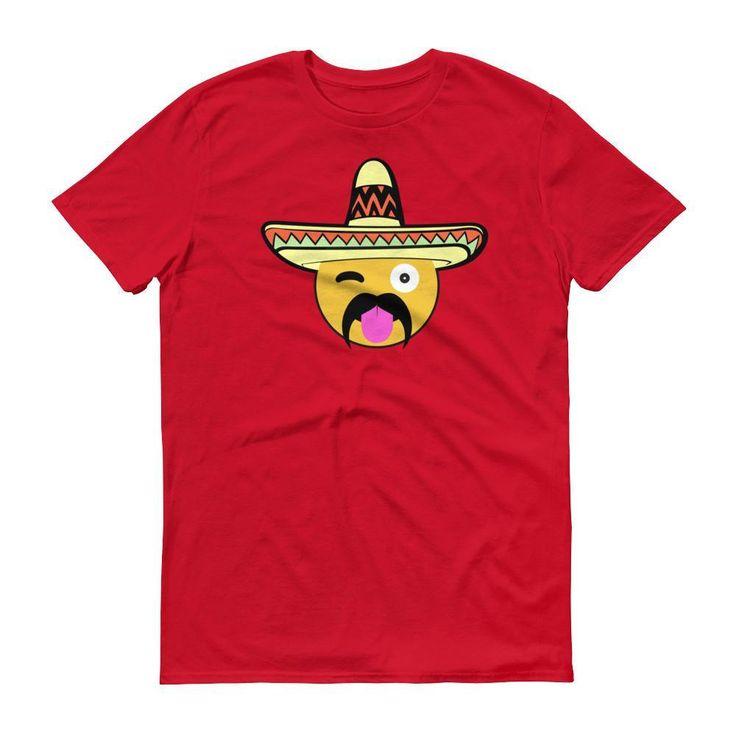 Men's Mexican Emoji Shirt Cinco De Mayo Party Shirt