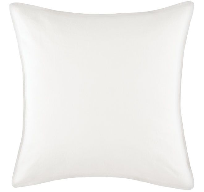Linen Cotton White KAS ROOM  Luxurious and soft, this linen and cotton blend European pillowcase will have you on cloud 9.  Features: Linen and cotton  Dimensions: x1 European Pillowcase - 65cm x 65cm - #pillowcases