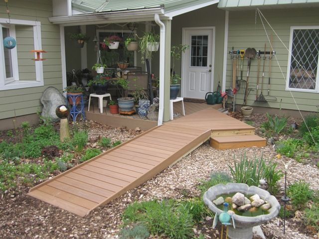 62 best images about build a wheelchair ramp on pinterest for Building a wheelchair accessible home