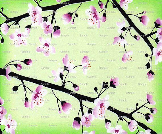 Japanese Cherry Blossom Cake Background  Edible by ArtofEricGunty
