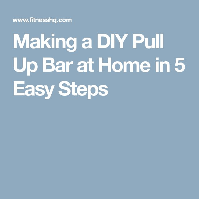 how to make your own doorway chin up bar