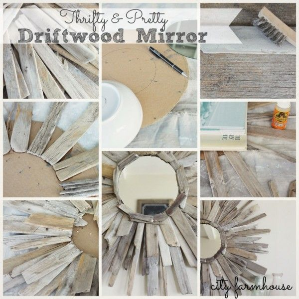 Beach House Decorating | DIY for your Beach House: Driftwood Mirror | http://nauticalcottageblog.com