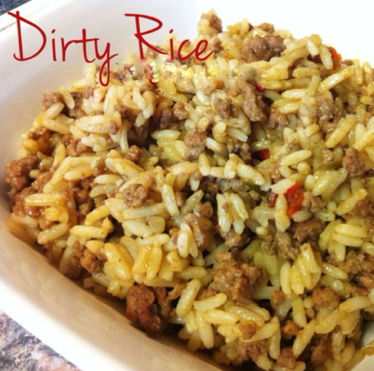 """Dirty Rice is a spicy and flavorful Cajun rice dish made from white rice. It gets its """"dirty"""" color from finely chopped chicken livers and ground beef or pork. The chicken livers give it such"""