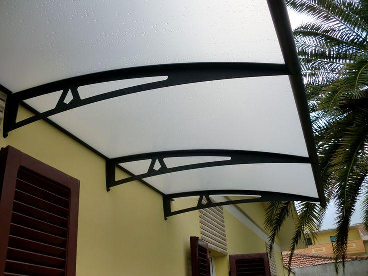 Modular acrylic glass door canopy MODERN STYLE by ROYAL PAT