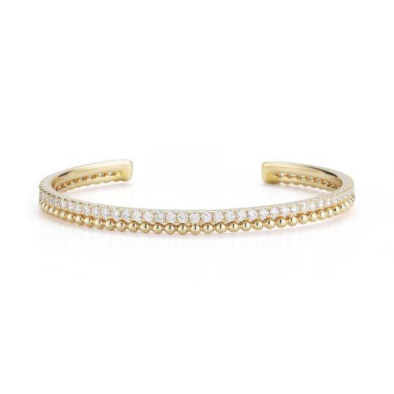 POPPY RAE: Yellow Gold Diamond Cuff #danarebecca #DRDcuff #DRDbracelets #bracelets #cuff #diamonds #yellowgold