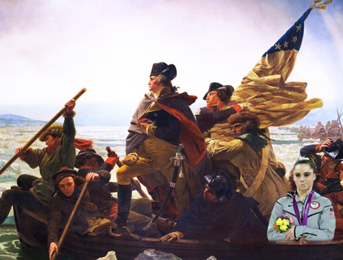 'McKayla is Not Impressed' - Crossing the Delaware? Not Impressed.