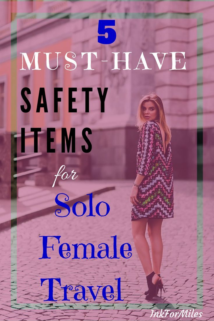 These are my top-five, must-have, never-leave-home-without safety items for solo female travelers. | Solo Female Travel | Solo Travel Safety | #SoloFemaleTravel