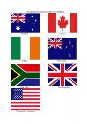 English worksheet: Flags of English Speaking Countries