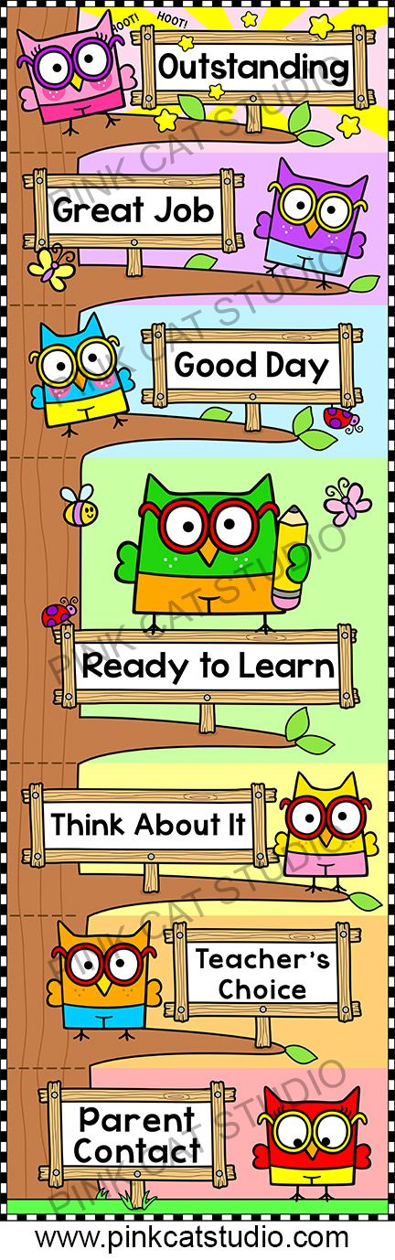Smarty Pants Owl Theme Behavior Clip Chart - Editable: This adorable Smarty Pants Owls theme behavior clip chart will look fantastic in your classroom! The fun tree design will spark your students' natural desire to climb. Encourage your students to climb to the top of the owl tree by making good choices. By Pink Cat Studio