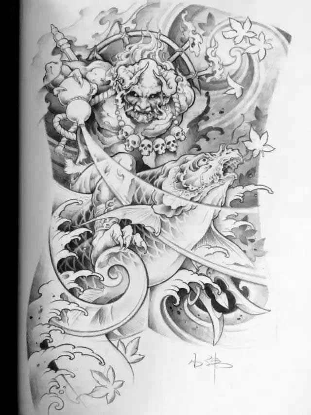 131 best images about raijin and fujin on pinterest for Japanese war tattoos