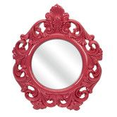 Found it at Wayfair - Finely Baroque Pink Wall Mirror