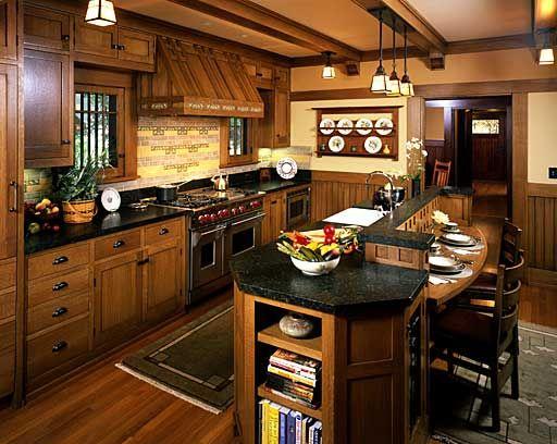 Craftsman Kitchen | Download Mission-Style-Quarter-Sawn-Oak-Kitchen-Cabinets