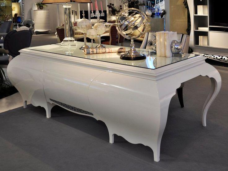 New York High Gloss Desk / Dressing Table, Luxury Desk, Designer ...