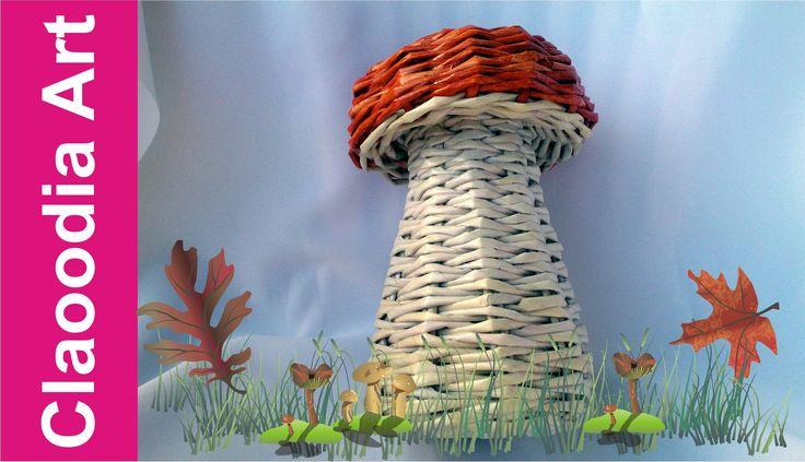 GRZYB, papierowa wiklina (mushroom, wicker paper)
