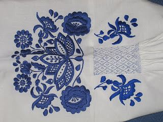 BEAUTIFUL embroidery on this camisa