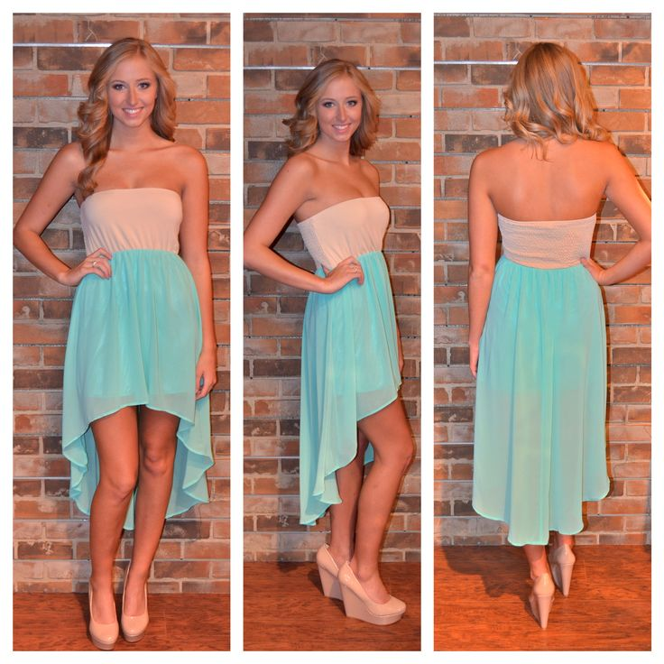 love this!: Colors Combos, High Low Dresses, Apricot Lane, Nude, Style, Clothing, Than, The Dresses, Hi Low Dresses