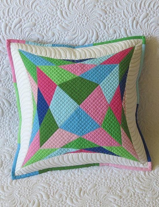 Acolchado diseño de almohada moderno edredón geométrico almohada patrón - fácil para almohadas                                                                                                                                                                                 Más