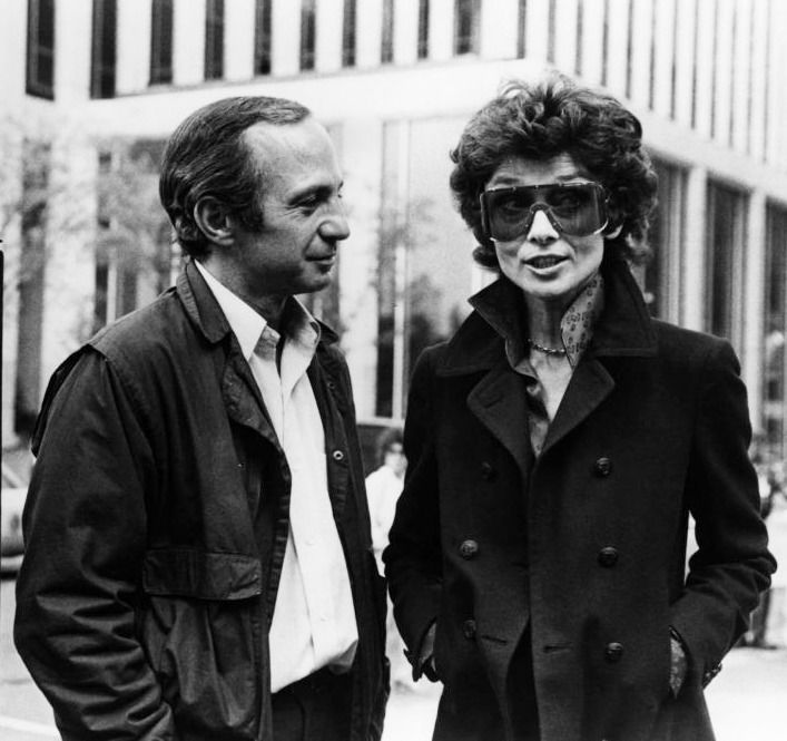 Audrey Hepburn and Ben Gazzara filming They All Laughed, New York, 1981.