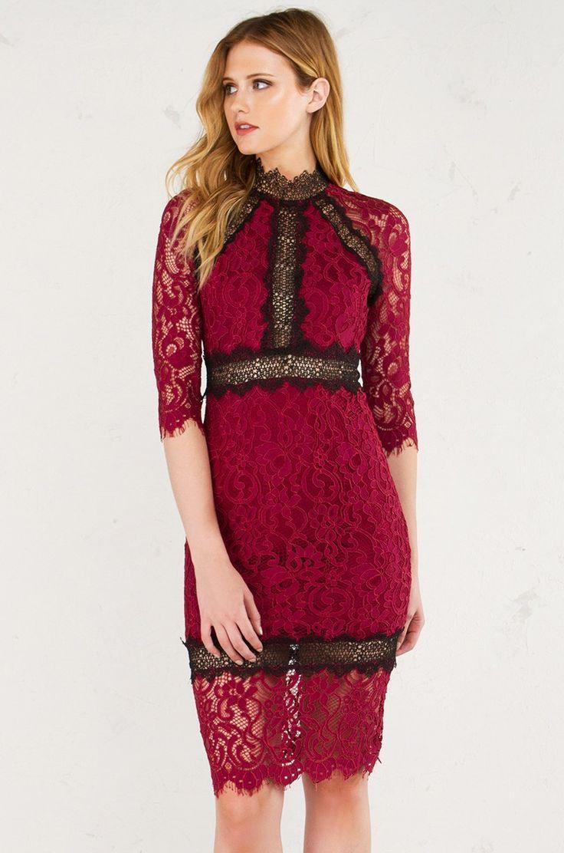 Long sleeve lace mini dress in black fashion pinterest lace