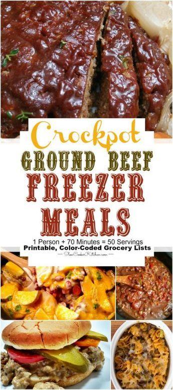 Ground Beef Crock Pot Recipes (Freezer Meals)