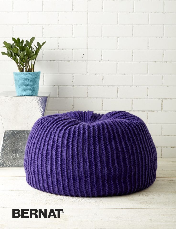 Free Knitting Pattern For Take Notice Pouf To Use As