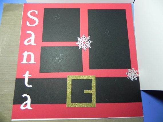 Santa Scrapbook Page Layout by HandCraftedBy2 on Etsy, $4.99