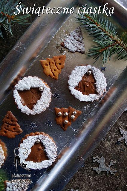 Kulinarne przygody Gatity: Świąteczne ciasteczka z kremem czekoladowym