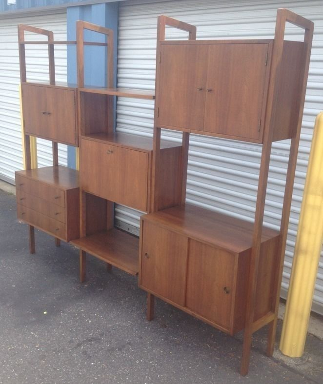 Poul cadovius danish modern style wall unit bar cabinet for Modern wall bar unit