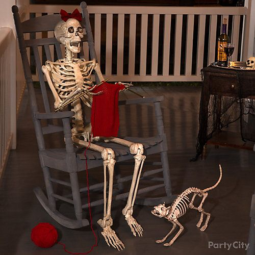 find outdoor haunted house halloween decorations for your halloween party shop for skeleton decorations tombstone decorations and scary animal - Decorated Houses For Halloween